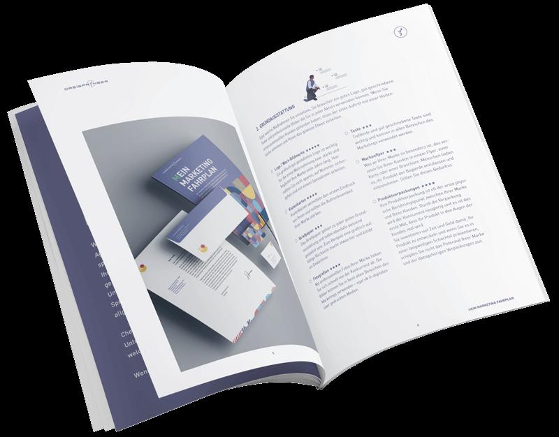 Marketingfahrplan Booklet offen